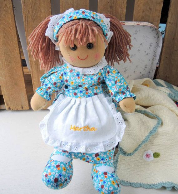 47 best personalized baby gifts online images on pinterest baby personalised martha rag doll negle Gallery