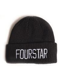Fourstar Beanie New League Fold Black