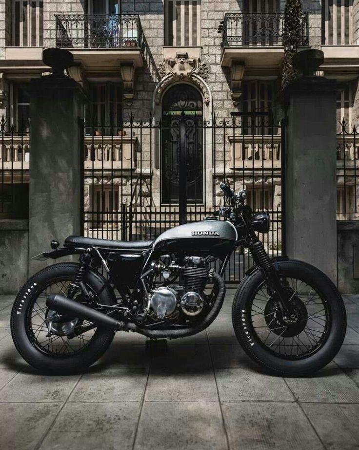 Motorcycle #cafe racer #honda http://bobberinspiration.com/post/63866585888/honda-cb550-four-cafe-racer-by-jerikan-motorcycles