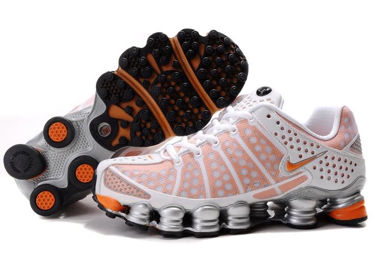 cheaper a8253 a4455 Women Nike Shox Tl3 White-pink 421264 003 black and orange nike . ...