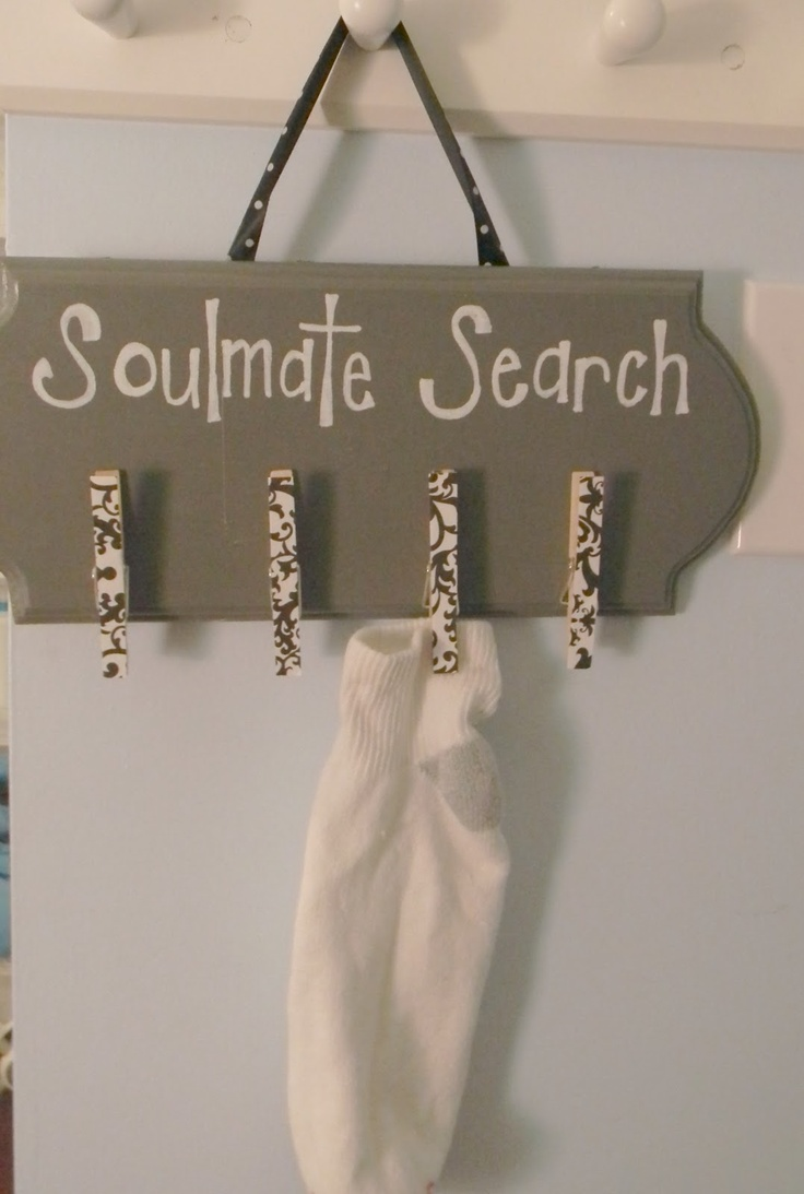 Soul mate....Oh, I see what you did there...  Blissful Bucket List: Missing Sock Board