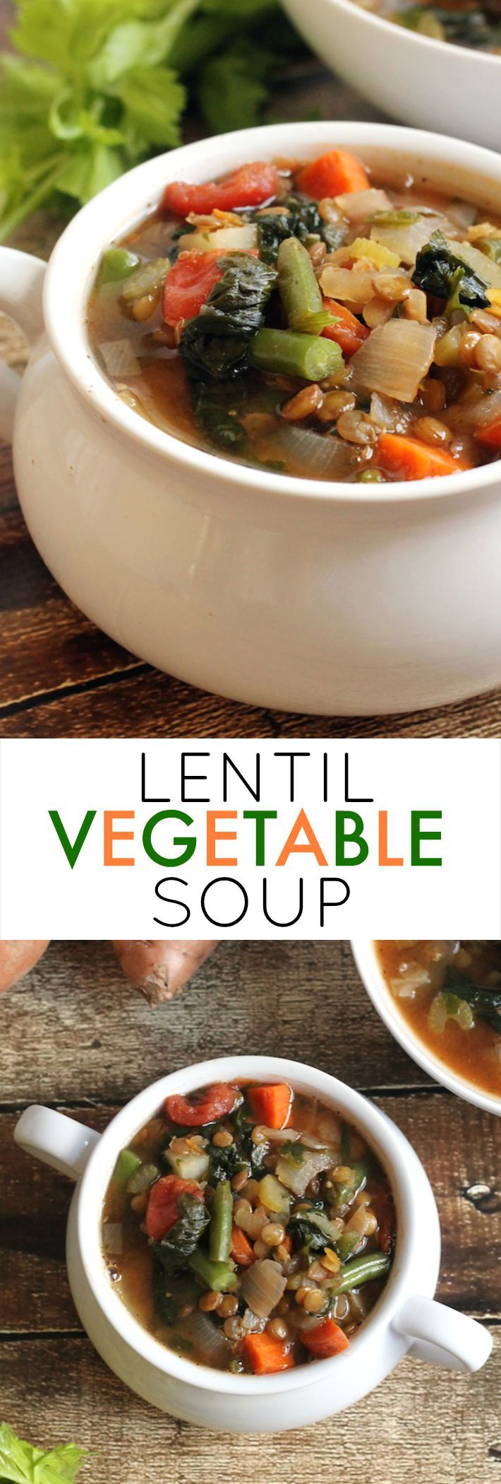 Lentil vegetable soup, Vegetable soups and Lentils on Pinterest