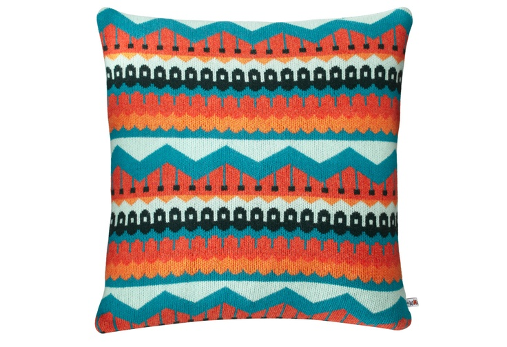 Hofdi cushion by Donna Wilson. Awesome pattern!