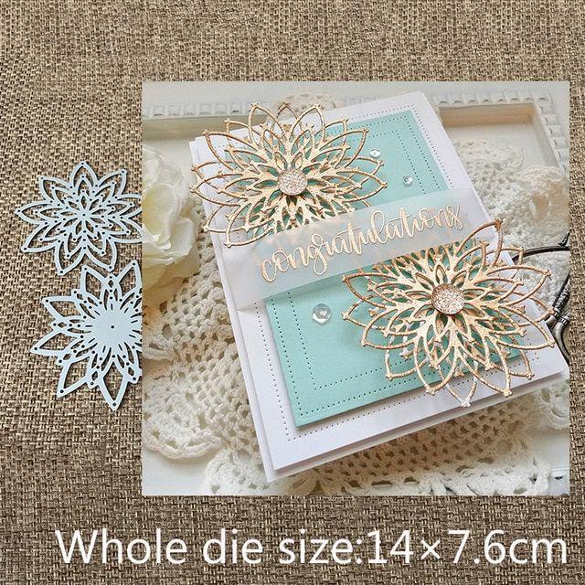 Flower Metal Die Cutting Dies DIY Scrapbooking Photo Album Decorative Die Cut