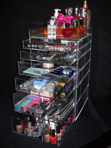 Best Cosmetic Organization Images On Pinterest Clear Acrylic - Acrylic cube makeup organizer with drawers