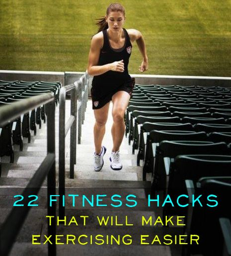 24 Fitness Hacks That Will Make Exercising Easier. Great tips for people of every fitness level!