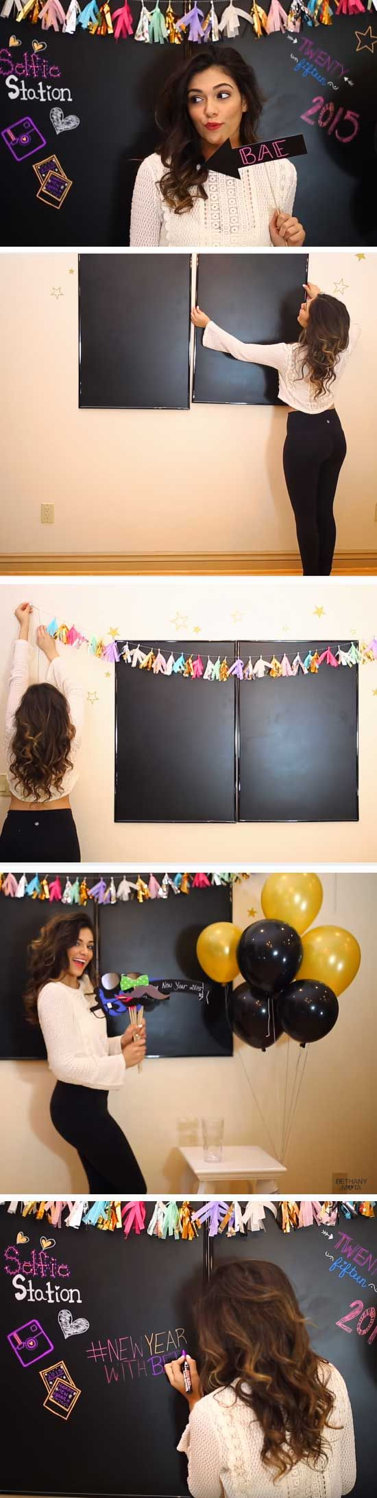 Selfie Station | 20 + Last Minute New Years Eve Party Ideas