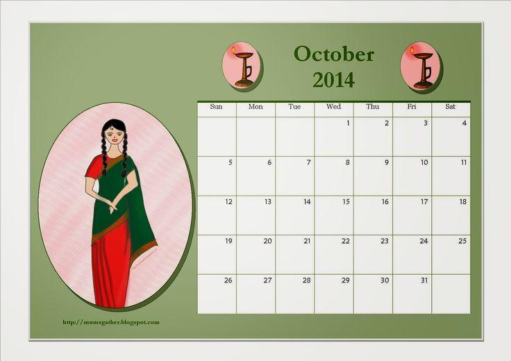 Parenting Times: Free Printable October 2014 Calendar For Kids - De...
