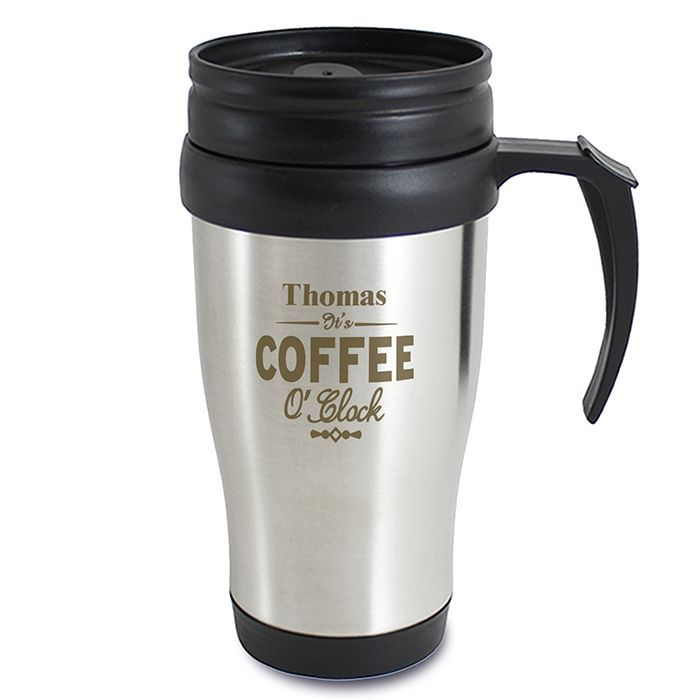 Personalised Thermal Travel Mug Custom Cup Flask Image Coffee Photo Picture Xmas