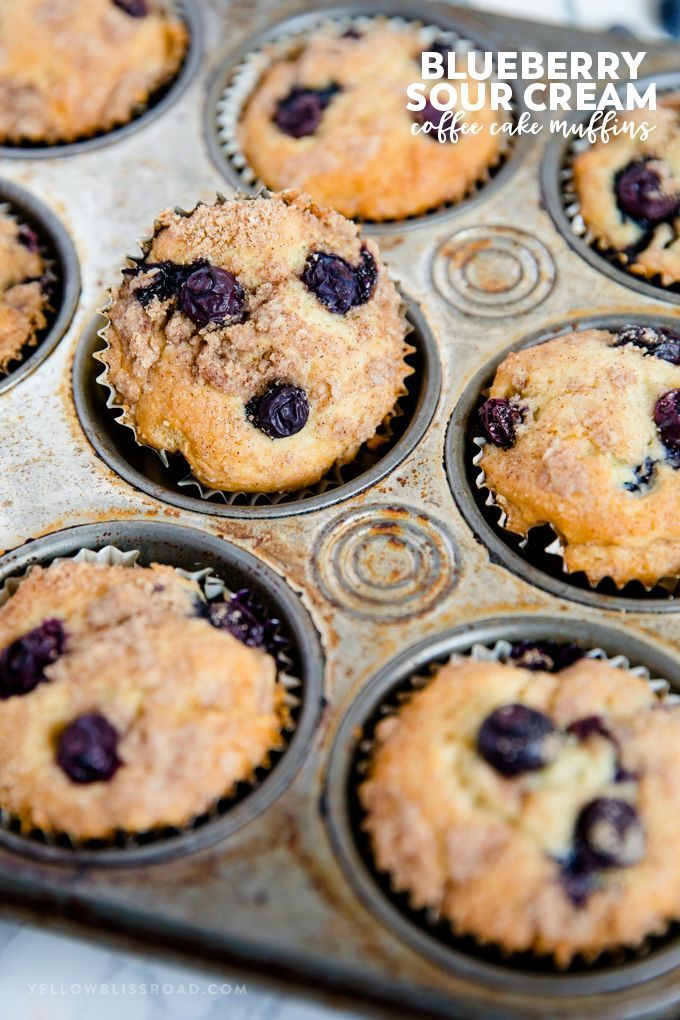 Blueberry Sour Cream Coffee Cake Muffins Recipe Sour Cream Coffee Cake Coffee Cake Muffins Coffee Cake