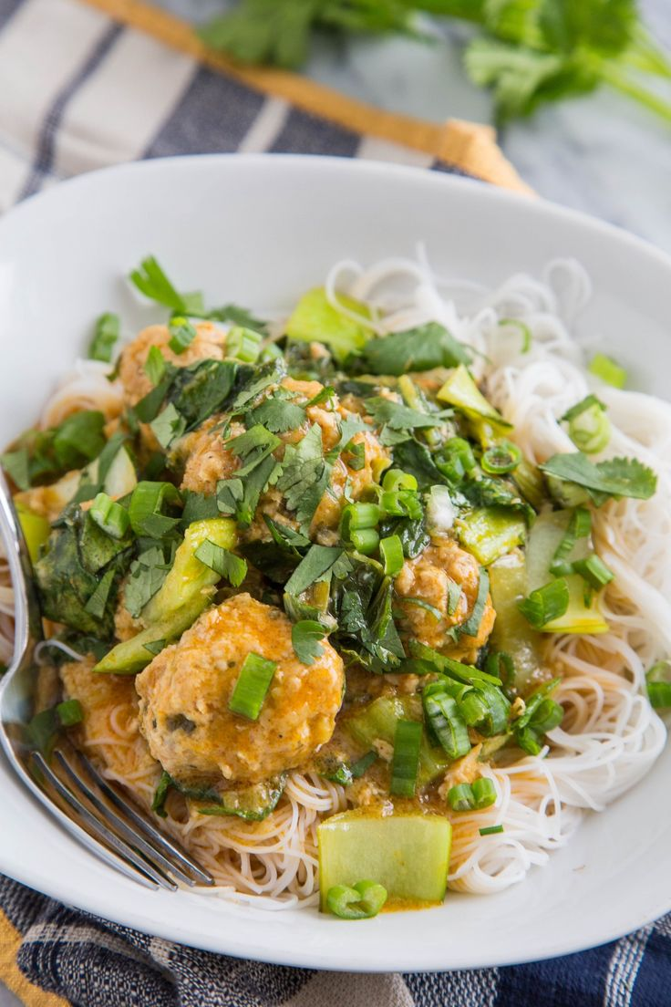 Recipe: Thai Chicken Meatballs with Coconut Curry Sauce — Recipes from The Kitchn