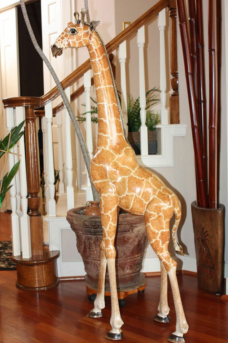 Wooden Carved Giraffe 5ft Tall His Name Is 39 Barongo 39 If
