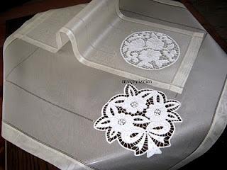 cutwork mounted on silk