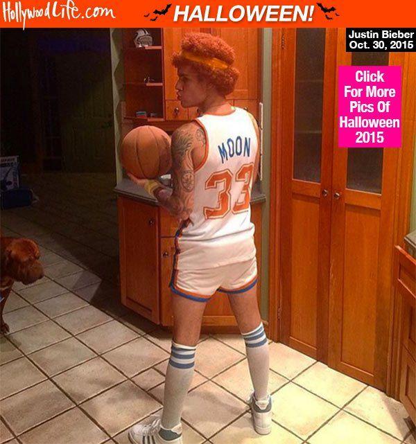 Justin Bieber Rocks Tiny Shorts For Hilarious Jackie Moon HalloweenCostume