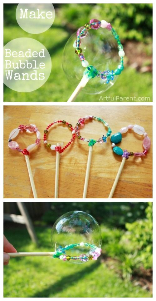 DIY Bubble Wands with Beads