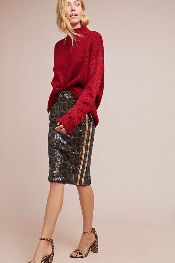 98c2227daccf Byron Lars Sequin Leopard Pencil Skirt in 2019 | Fashion | Sequin pencil  skirt, Sequins, Skirts