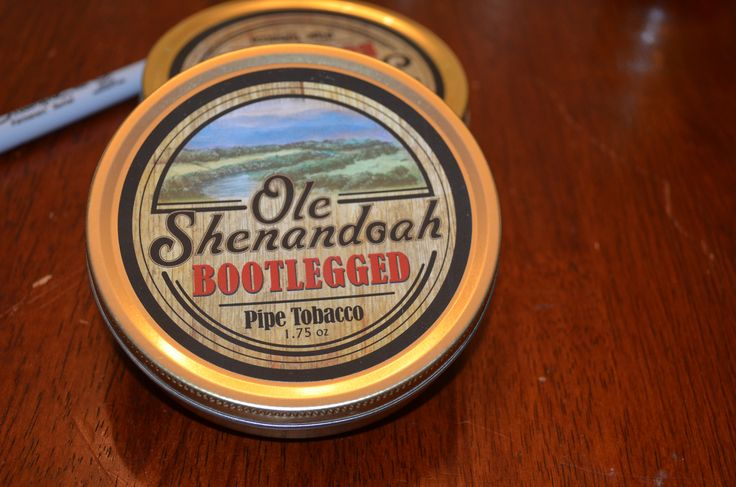 Ole Shenandoah - Bootlegged Ole Shenandoah Bootleged is a welcome addition to this series of wonderfully aromatic, bite-free pipe tobaccos. Soft, nutty burleys are blended with a good portion of silky black cavendish and accented by the addition of some lemon Virginia. The superb aroma comes from a not too sweet blend of subtle fruit and warm confectionery flavors  Tobacco Reviews link http://www.tobaccoreviews.com/blend/9358/ole-shenandoah-bootlegged