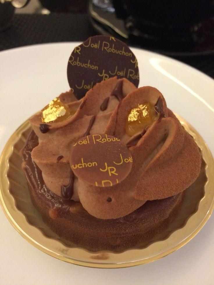 Chocolate Mont Blanc from Joel Robuchon Hong Kong