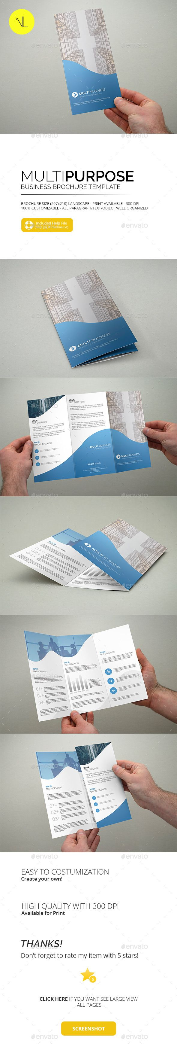 Multipurpose - Business Trifold Brochure