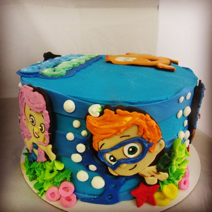 Bubble guppies cake