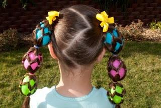 Easter hair. . . crazy hair day?