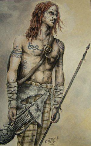 "Warriors:  ""Woad Warrior,"" by  ~Becka-Van-Filth, at deviantART."