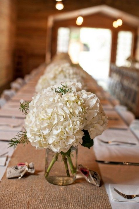 Such a simple table, yet so pretty! Amber and Trevor's Antique Shop Barn Wedding by Rennard Photography