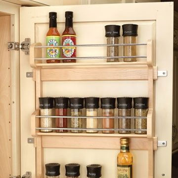 "Door Mount Spice Rack 21""- Wood (#4SR-21) by Rev-A-Shelf 