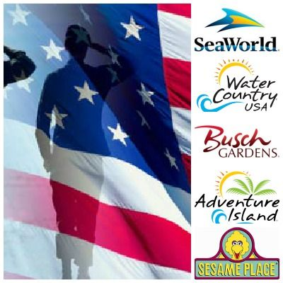 Military Free Admission To Seaworld Busch Gardens Adventure Island Water  Country Usa