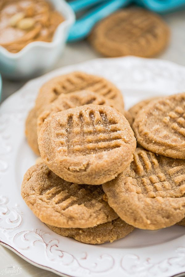 Flourless 3 Ingredient Peanut Butter Cookes are the perfect gluten free tree. So easy to make & best with a glass of milk. Ultimate soft & chewy cookies!