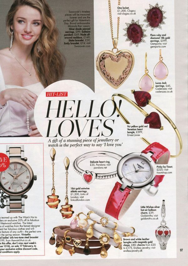 Our One locket featured in Hello! Loves Valentine's Day special