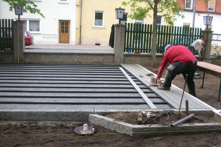 Unterbau Einer Wpc Terrasse