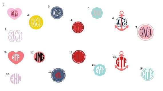 Personalized stickers, monogram stickers, cup sticker, window sticker, car sticker  Hey, I found this really awesome Etsy listing at https://www.etsy.com/listing/267778070/monogram-sticker-personalised-sticker