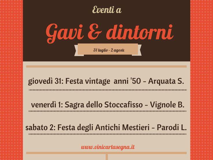 Eventi a #Gavi (AL) e dintorni dal 31 luglio al 2 agosto 2014