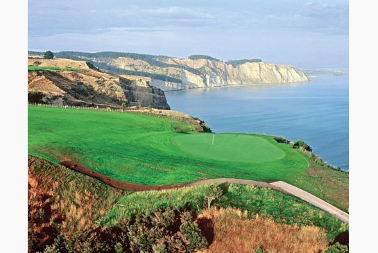 The Kauri Cliffs golf course in New Zealand was ranked among the world's top 100 by Golf Magazine.