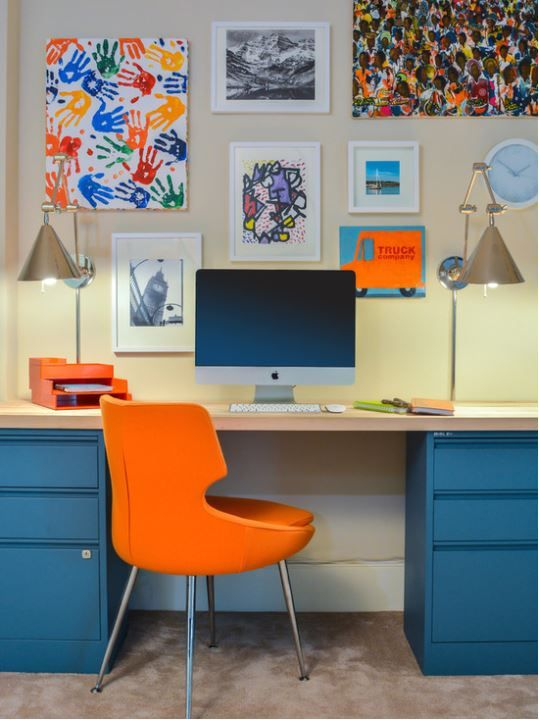 American twist on Bisley - desk top supporting Home Filers ( saved from Houzz.com)