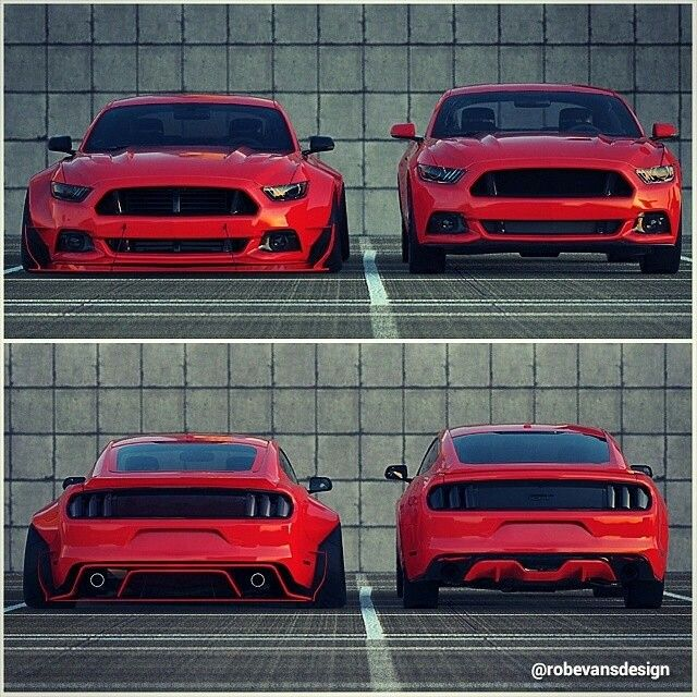2015 Widebody Ford Mustang Concept By @robevansdesign
