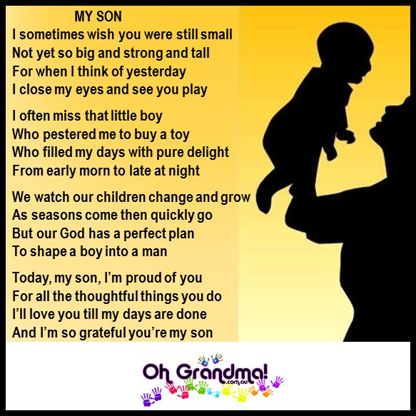 for my son and all those with adult sons