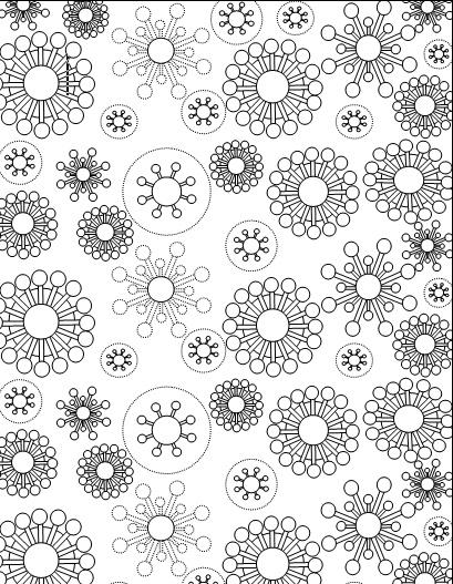 snowflake free printable coloring page