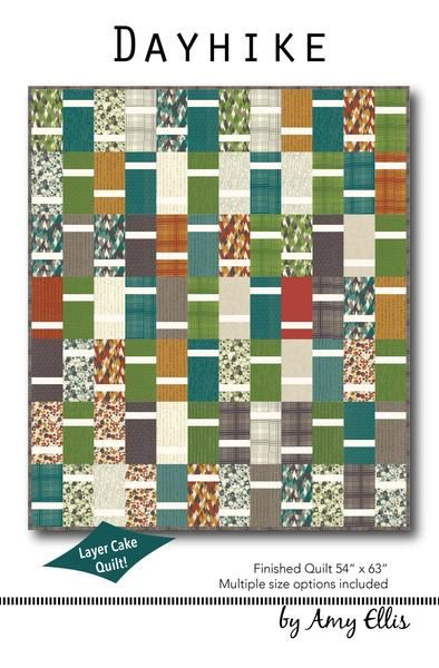 Dayhike is such a fun and easy quilt to make - I bet you can make one today even! Great for a beginner quilter, or when you need a gift in a hurry. I included three common sizes for a simple quilt, an