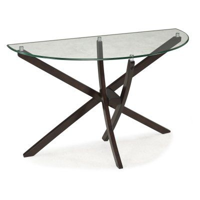 Flexsteel Sofa Magnussen Xenia Demilune Sofa Table MHF Sofa tables and Products
