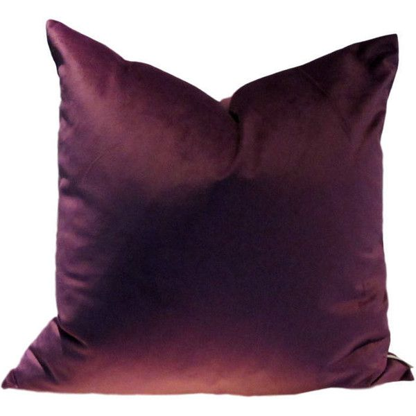 Purple Luxe Velvet Pillow Cover (1.875 RUB) ❤ liked on Polyvore featuring home, home decor, throw pillows, purple accent pillows, patterned throw pillows, purple throw pillows, purple toss pillows and purple home accessories