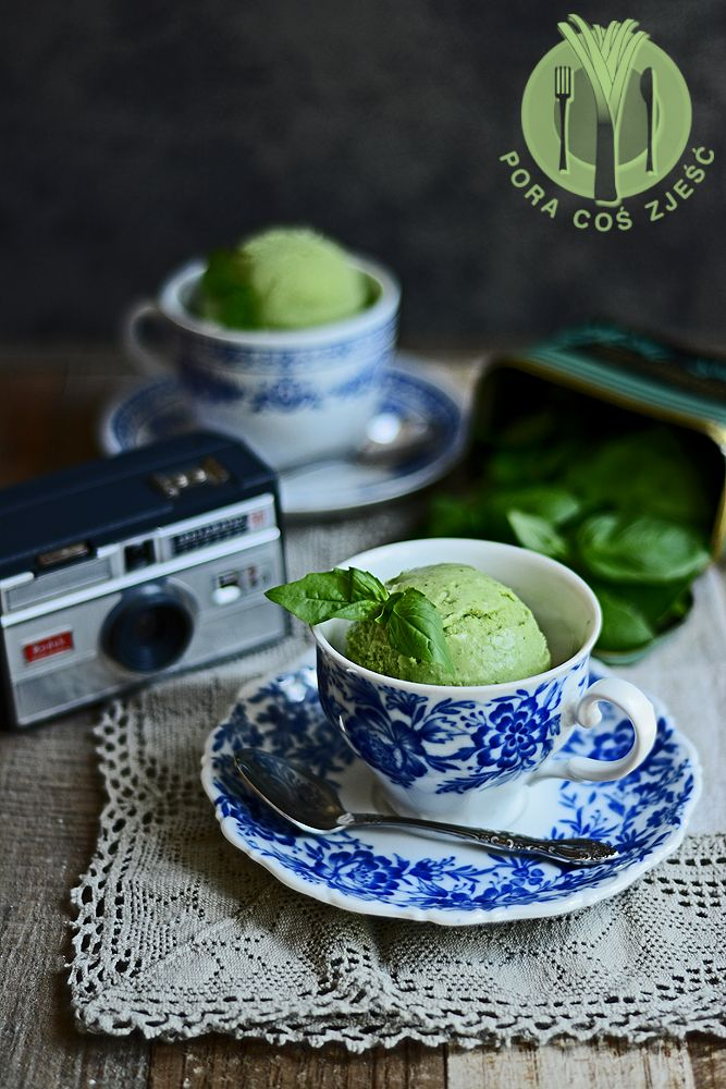 Basil ice cream