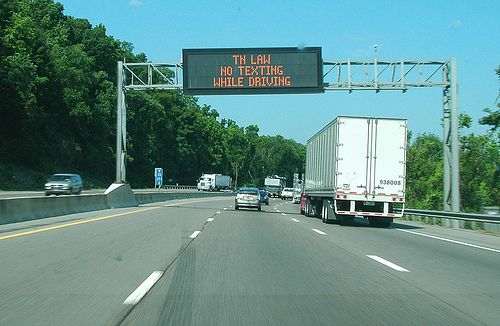 TN LAW - NO TEXTING WHILE DRIVING: Each state should adopt this law and enforce it.