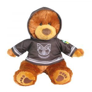 Warriors Plush Toys Supporter t-shirts with hood printed with team colours and logos