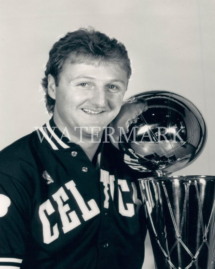 Larry Bird with Championship Rings pics | Larry Bird With Championship Trophy 8x10 Press Photo Boston Celtics ...