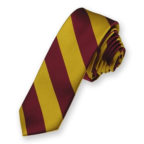 Red Gold Striped Ties Zazzle