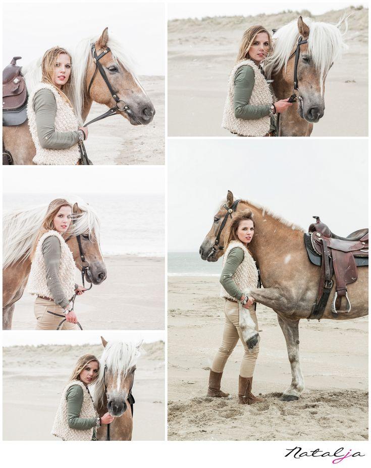 girl and horse shoot meisje met paard shoot