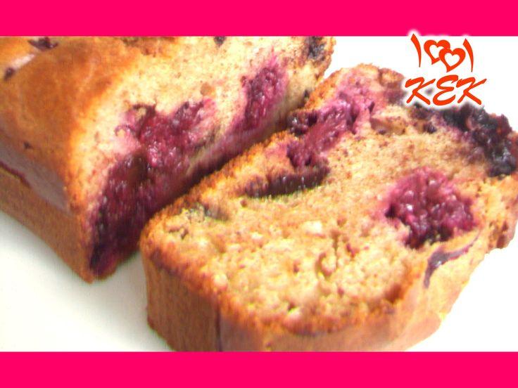 1001 Kek - Çikolata Parçalı Böğürtlenli Kek (Diyet)