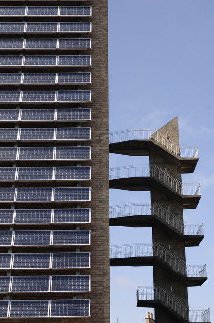 BAPV facade in Merchiston Campus, Scotland